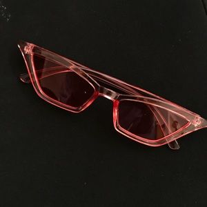 Accessories - Pink Cat Eyes Vintage Retro Sunglasses
